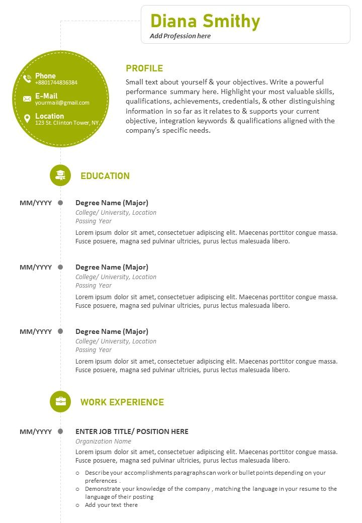 professional cv sample with previous work details powerpoint slides diagrams themes for Resume Resume Job Bullet Points