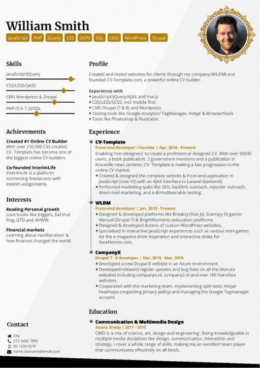 professional cv templates that make you stand out creating resume stands elegant template Resume Creating A Resume That Stands Out