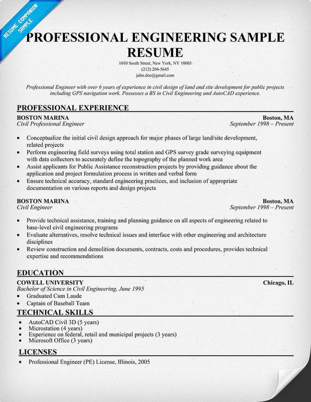 professional engineering resume sample companion medical template samples examples Resume Sample Professional Engineer Resume