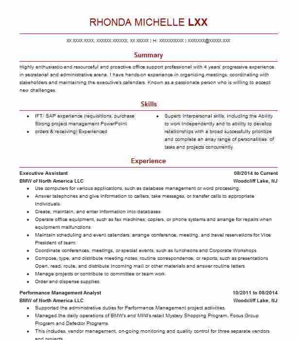professional executive assistant resume examples administrative livecareer title please Resume Administrative Assistant Resume Title