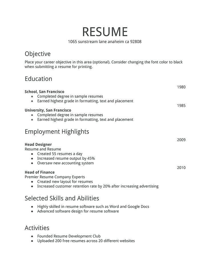 professional resume samples free cv template first job examples simple basic most looking Resume Basic Resume Examples 2019