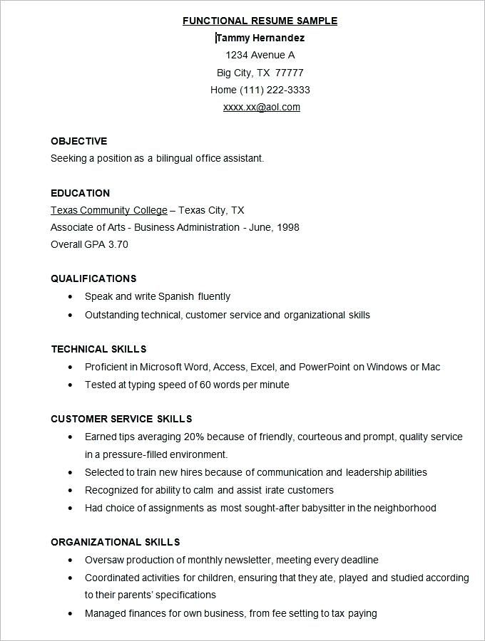 professional resume samples free cv template functional teacher easy generator best Resume Free Functional Resume Template 2019