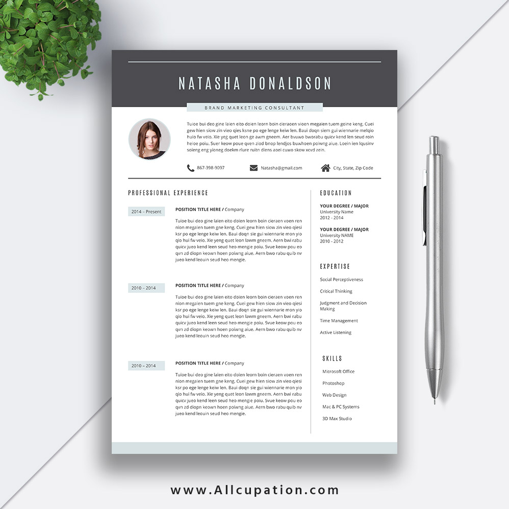 professional resume template creative cv word best design cover letter references instant Resume Impressive Resume Templates Word
