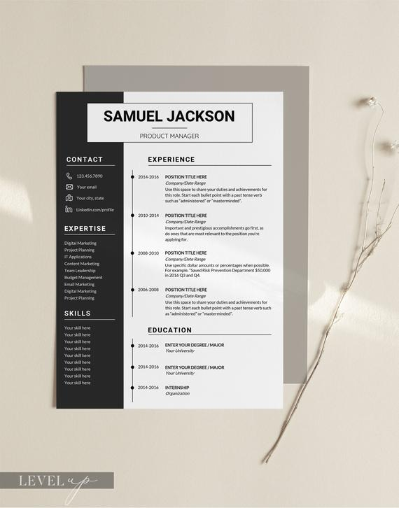 professional resume template design templates modern etsy il 570xn 42jn with one company Resume Professional Resume Design