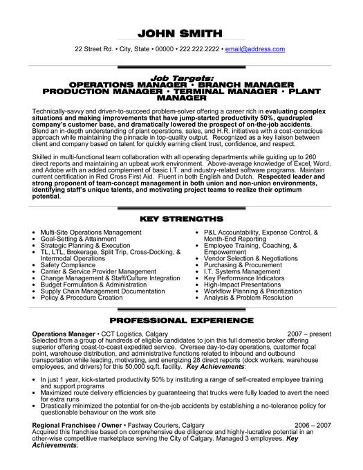 professional resume template for an operations manager want it now management examples Resume Operations Manager Resume