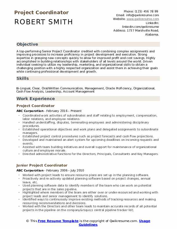 project coordinator resume samples qwikresume assistant pdf best business examples Resume Assistant Project Coordinator Resume