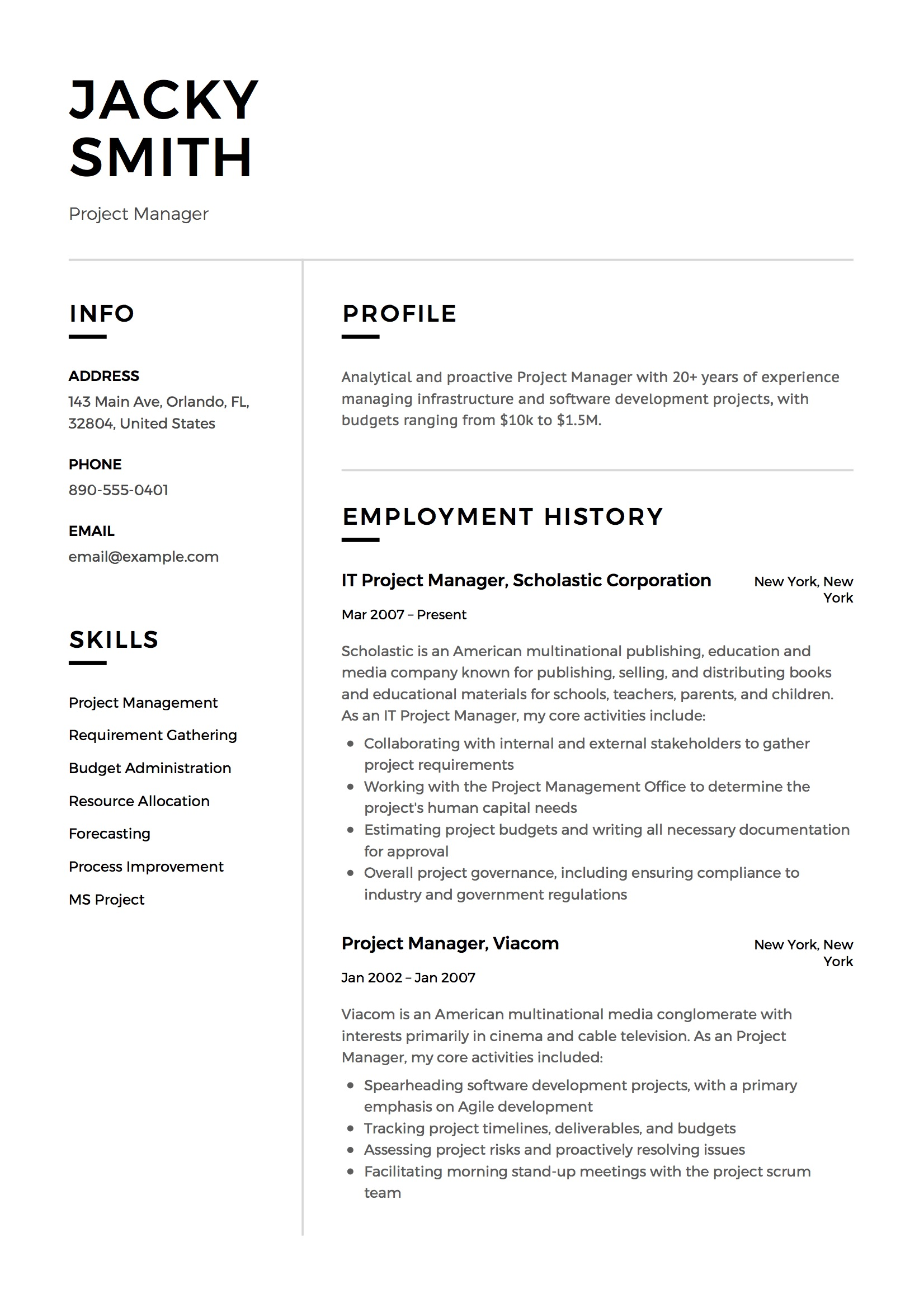 project manager resume examples full guide pdf word estimator hospitality samples Resume Estimator Project Manager Resume