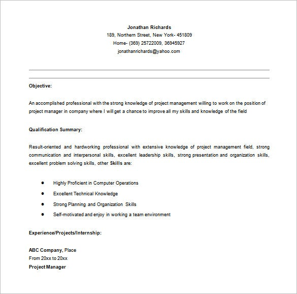 project manager resume template free word excel pdf format premium templates entry level Resume Entry Level Construction Manager Resume