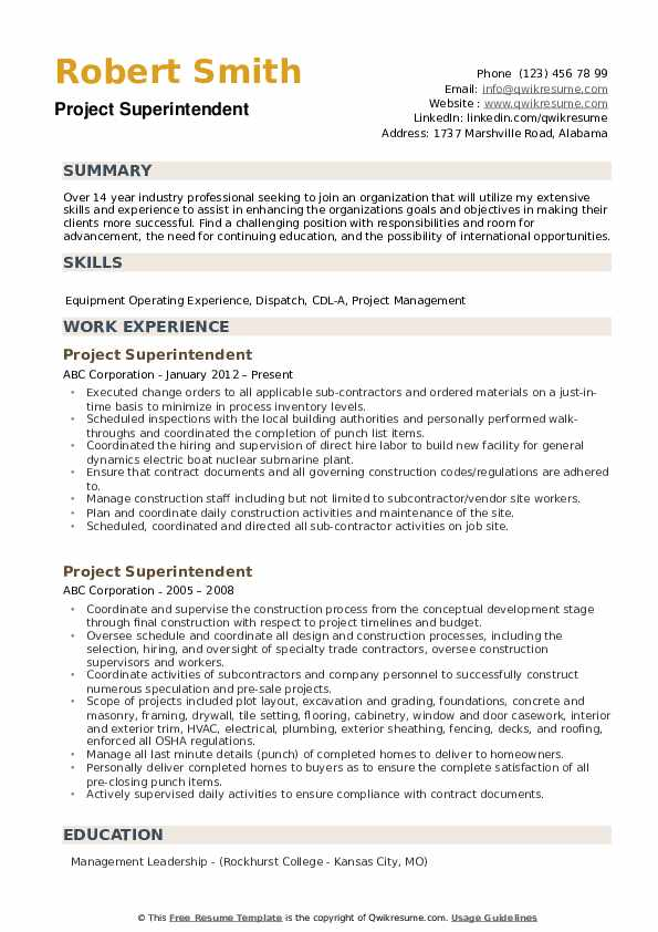 project superintendent resume samples qwikresume construction examples and pdf bellman Resume Construction Superintendent Resume Examples And Samples