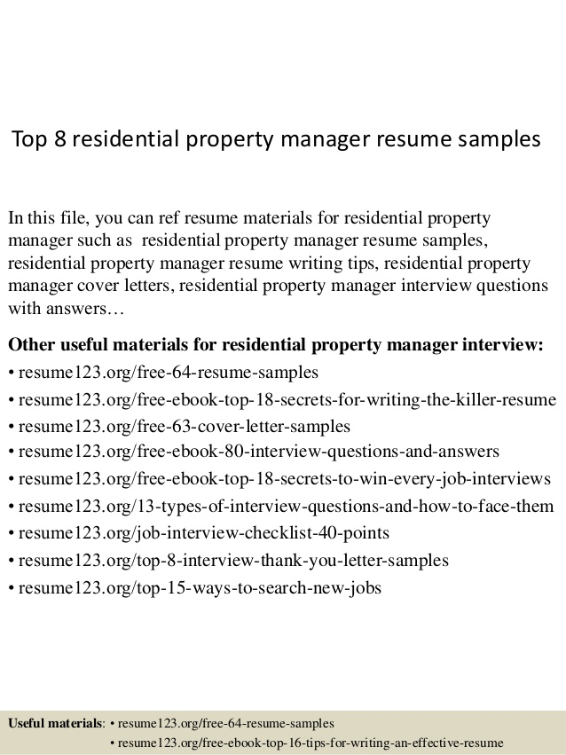 property manager resume louiesportsmouth top residential samples when does school Resume Property Manager Resume