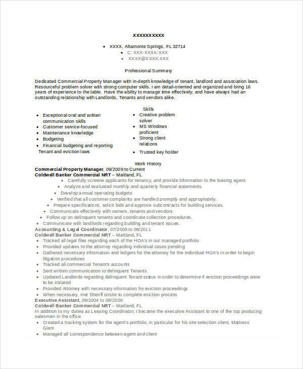 property manager resume templates pdf free premium commercial completely builder and Resume Property Manager Resume