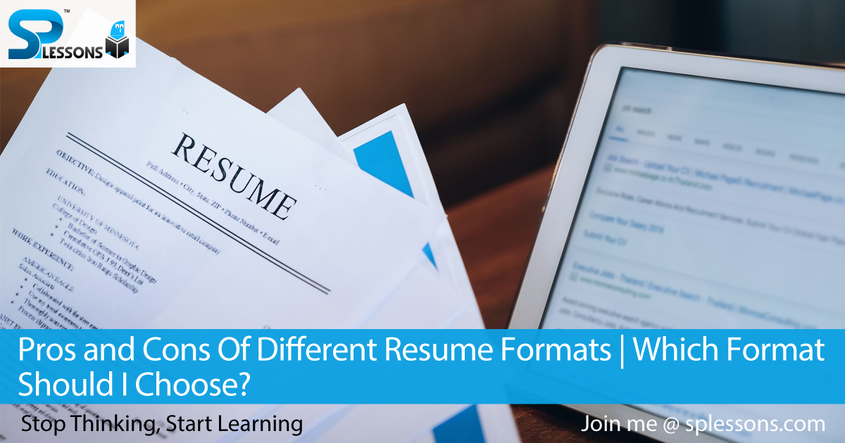 pros and cons of different resume formats chronological splessons math teacher cover Resume Chronological Resume Pros And Cons