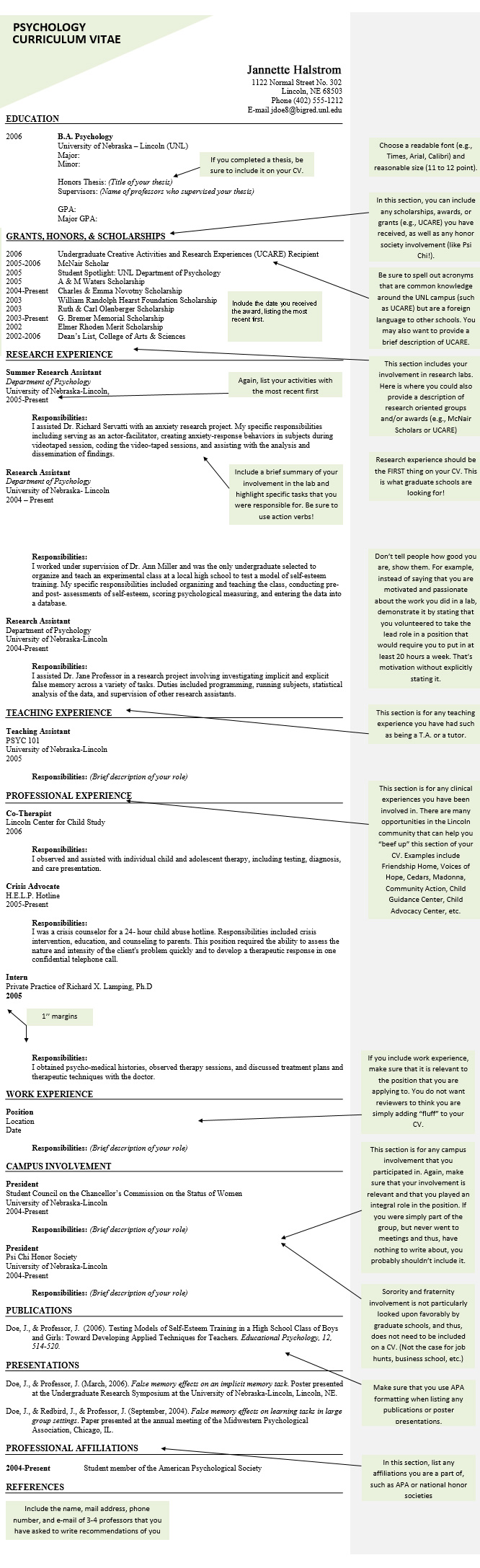 psychology cv and resume samples templates tips sample example of best for fresh graduate Resume Psychology Resume Sample