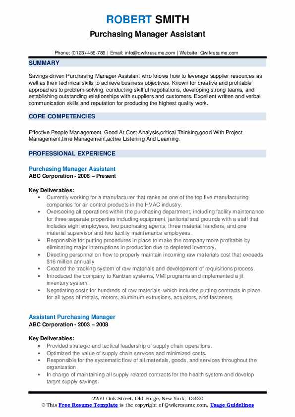 purchase officer resume pdf procurement examples senior manager purchasing entry level Resume Senior Procurement Manager Resume