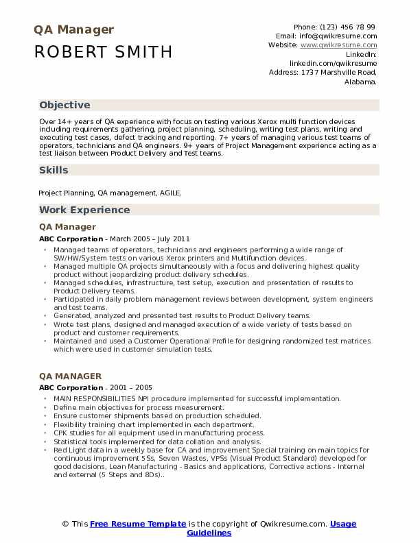 qa manager resume samples qwikresume quality assurance pdf contract specialist first grc Resume Quality Assurance Manager Resume