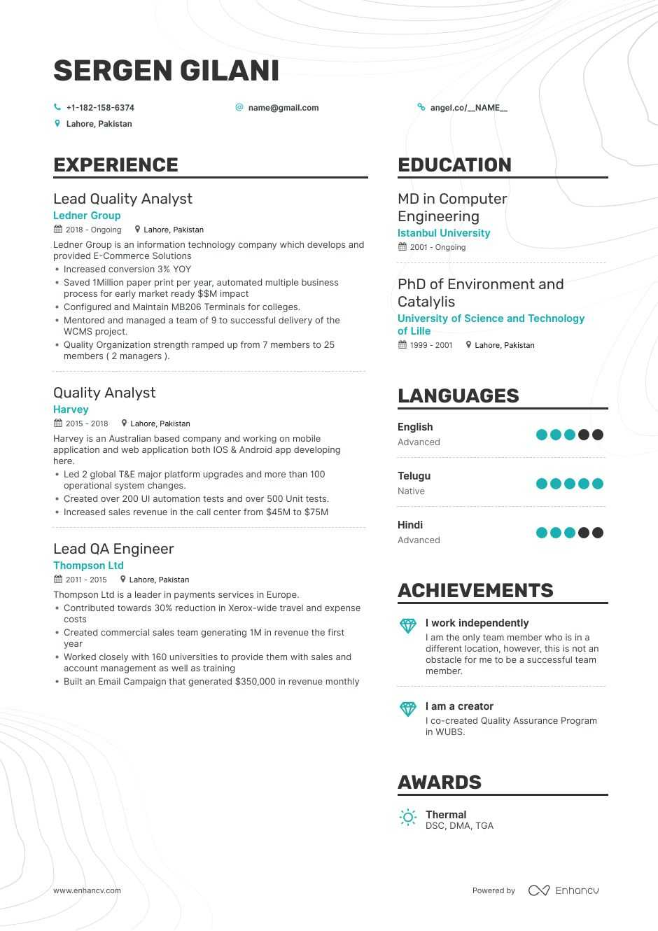 quality analyst resume samples step by guide for enhancv assurance sample interests and Resume Quality Assurance Analyst Resume Sample