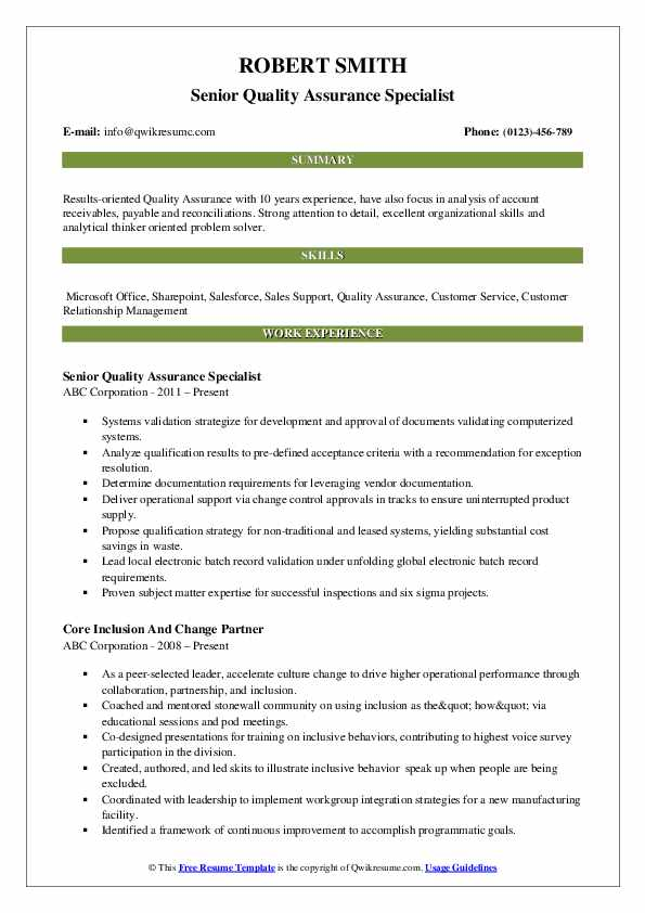 quality assurance specialist resume samples qwikresume pdf functional definition policy Resume Quality Assurance Specialist Resume
