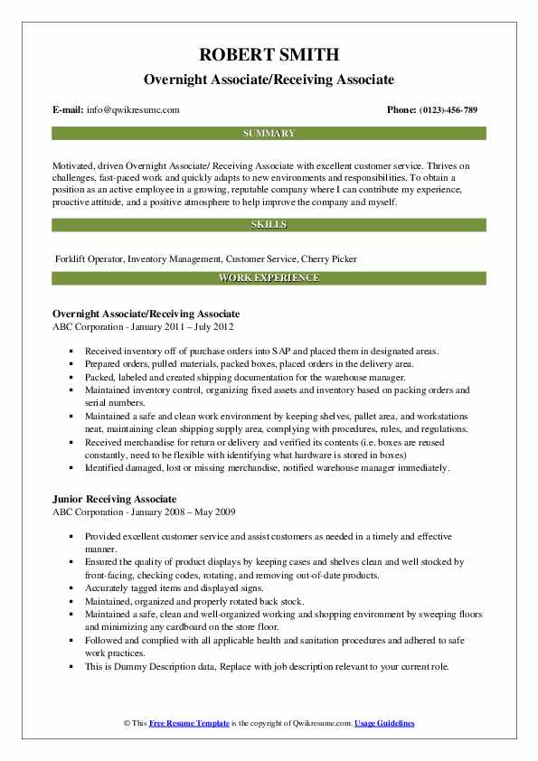 receiving associate resume samples qwikresume shipping and pdf correction service high Resume Shipping And Receiving Associate Resume
