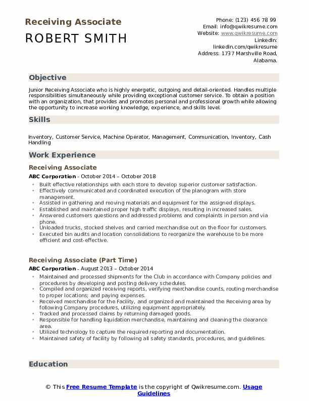 receiving associate resume samples qwikresume shipping and pdf perfect contact number Resume Shipping And Receiving Associate Resume