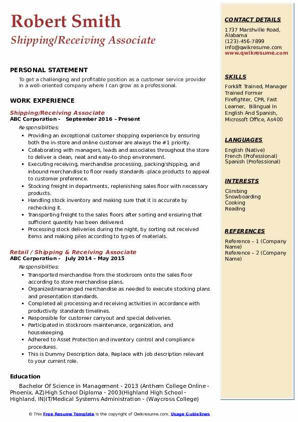 receiving associate resume samples qwikresume shipping and pdf safety professional Resume Shipping And Receiving Associate Resume