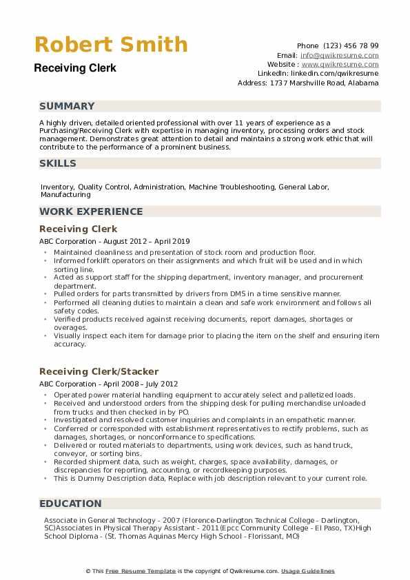 receiving clerk resume samples qwikresume shipping and associate pdf high school summary Resume Shipping And Receiving Associate Resume