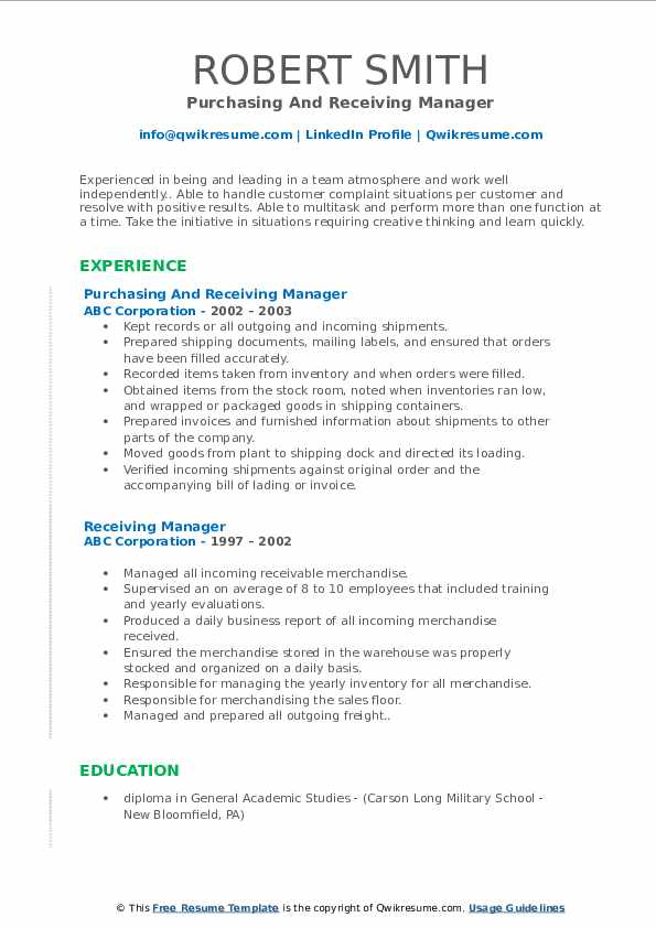 receiving manager resume samples qwikresume shipping pdf college grad career goals for Resume Shipping Receiving Manager Resume