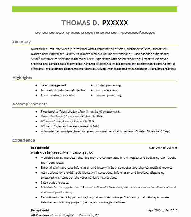 receptionist resume samples format examples of summary for by words lead latex template Resume Examples Of Resume Summary For Receptionist