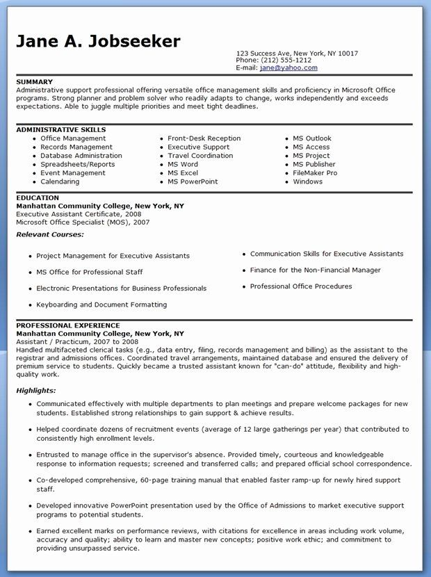 reentering the workforce resume examples beautiful sample administrative assistant skills Resume Reentering The Workforce Resume Examples