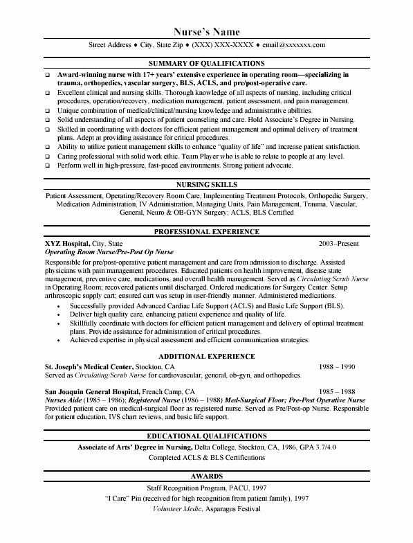 registered nurse resume objective examples beautiful best images about resumes on nursing Resume Pacu Rn Resume Examples