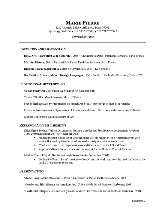 researcher cv example education credentials on resume example2 hard skills for customer Resume Education Credentials On Resume