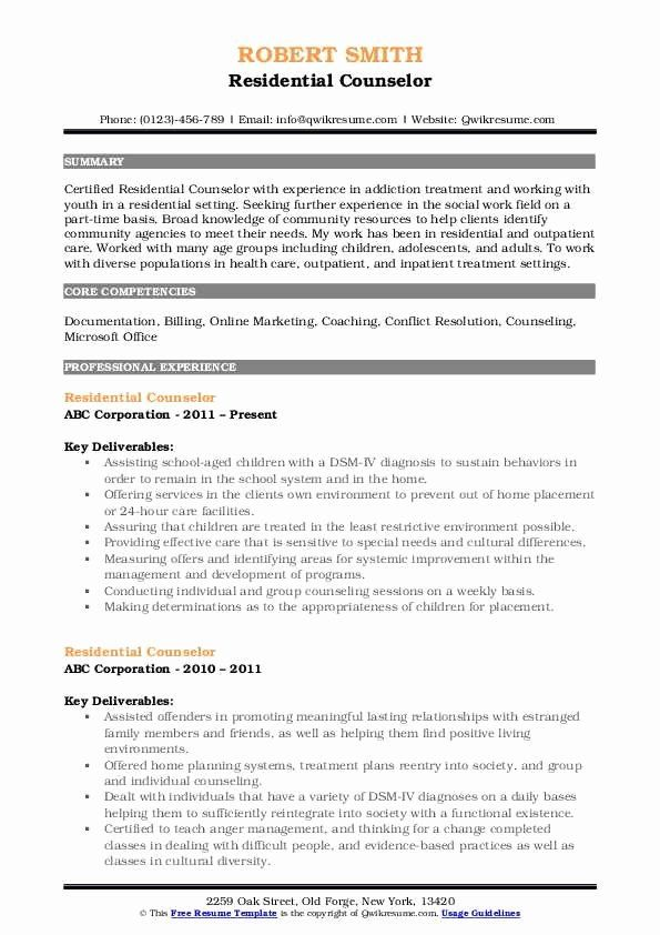 residential counselor job description resume new samples in manager examples entry level Resume Residential Counselor Resume