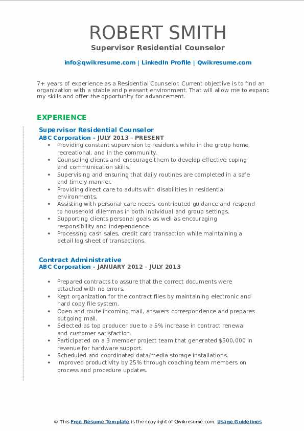 residential counselor resume samples qwikresume pdf entry level drafter sample industrial Resume Residential Counselor Resume