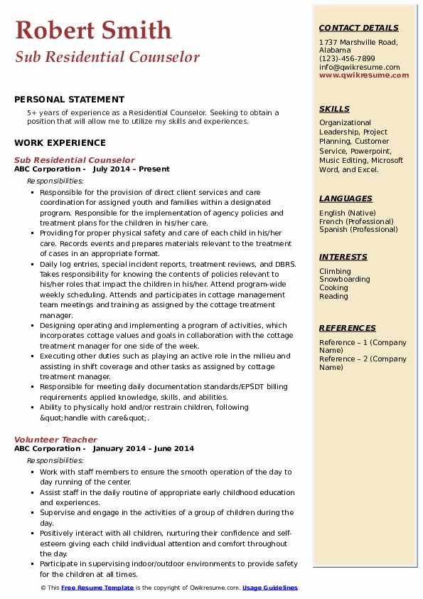 residential counselor resume samples qwikresume pdf include address on hostess Resume Residential Counselor Resume