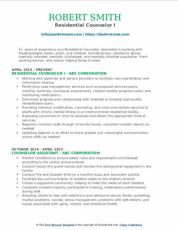 residential counselor resume samples qwikresume pdf words with the letters all services Resume Residential Counselor Resume