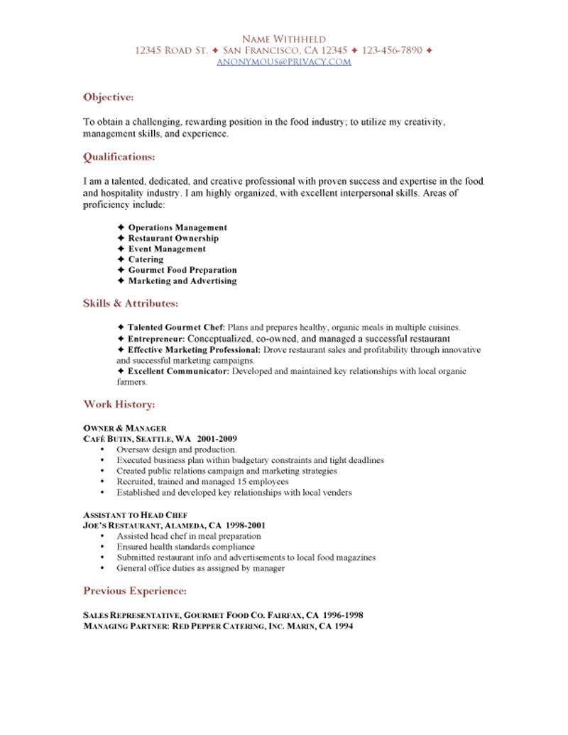 restaurant functional resume sample job examples food service worker of data scientist Resume Functional Resume Food Service Worker