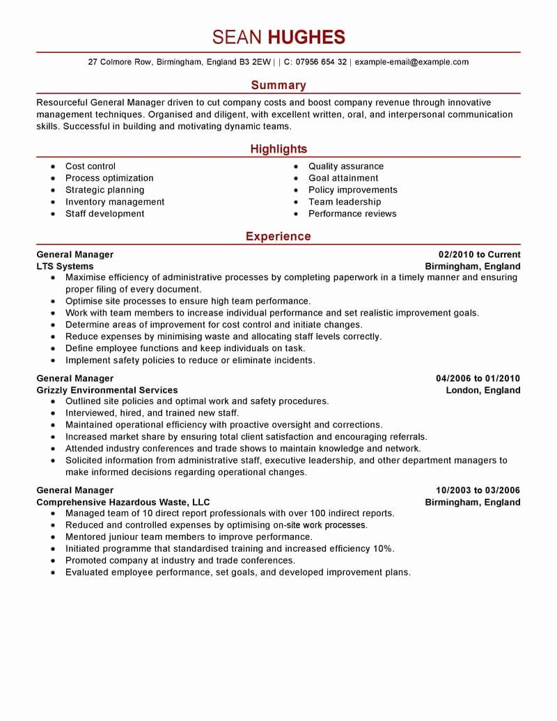 restaurant manager resume examples best of general example job description template Resume Restaurant Manager Resume Sample