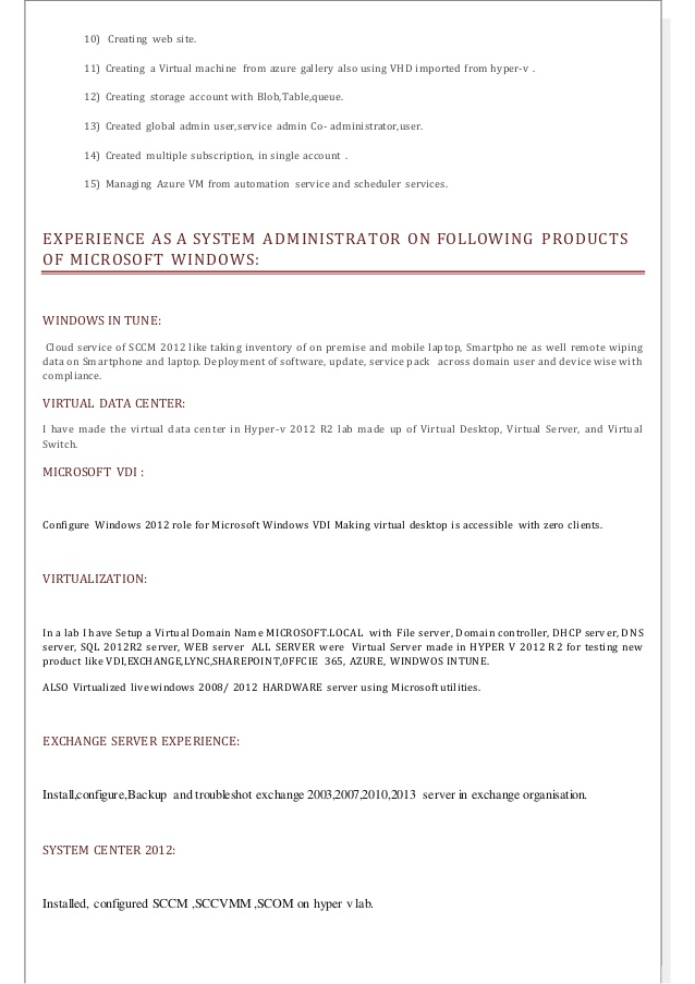 resume administrator sample highlights of qualifications on investigator objective Resume Cloud Administrator Resume Sample