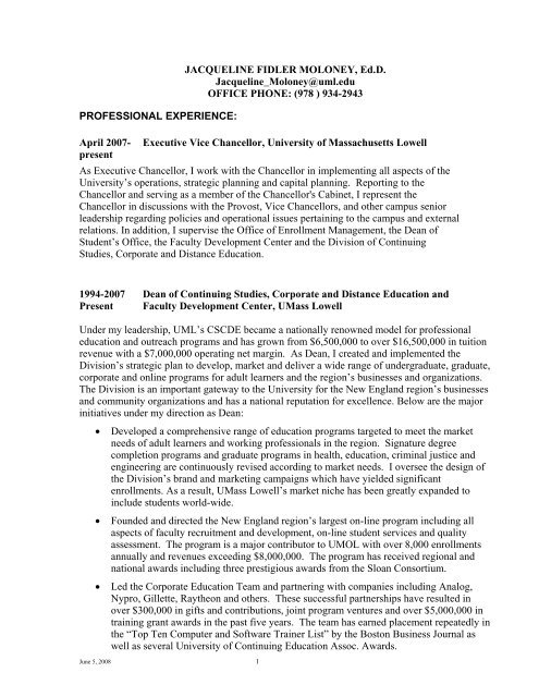 resume and continuing education at umass lowell on skills for office job gis analyst Resume Continuing Education On Resume