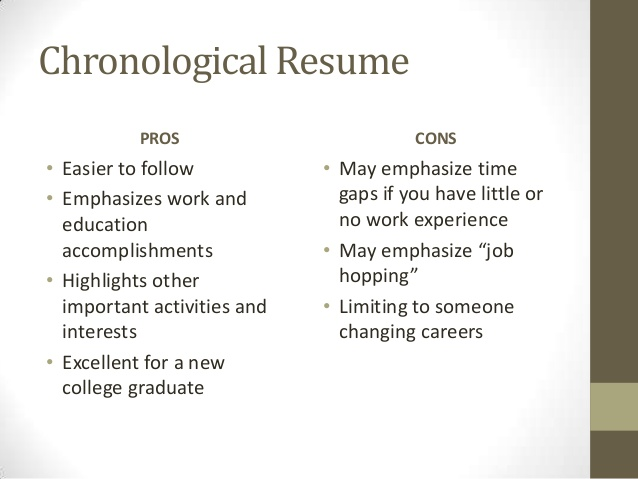 resume basics for blackboard chronological pros and cons art education samples watercolor Resume Chronological Resume Pros And Cons