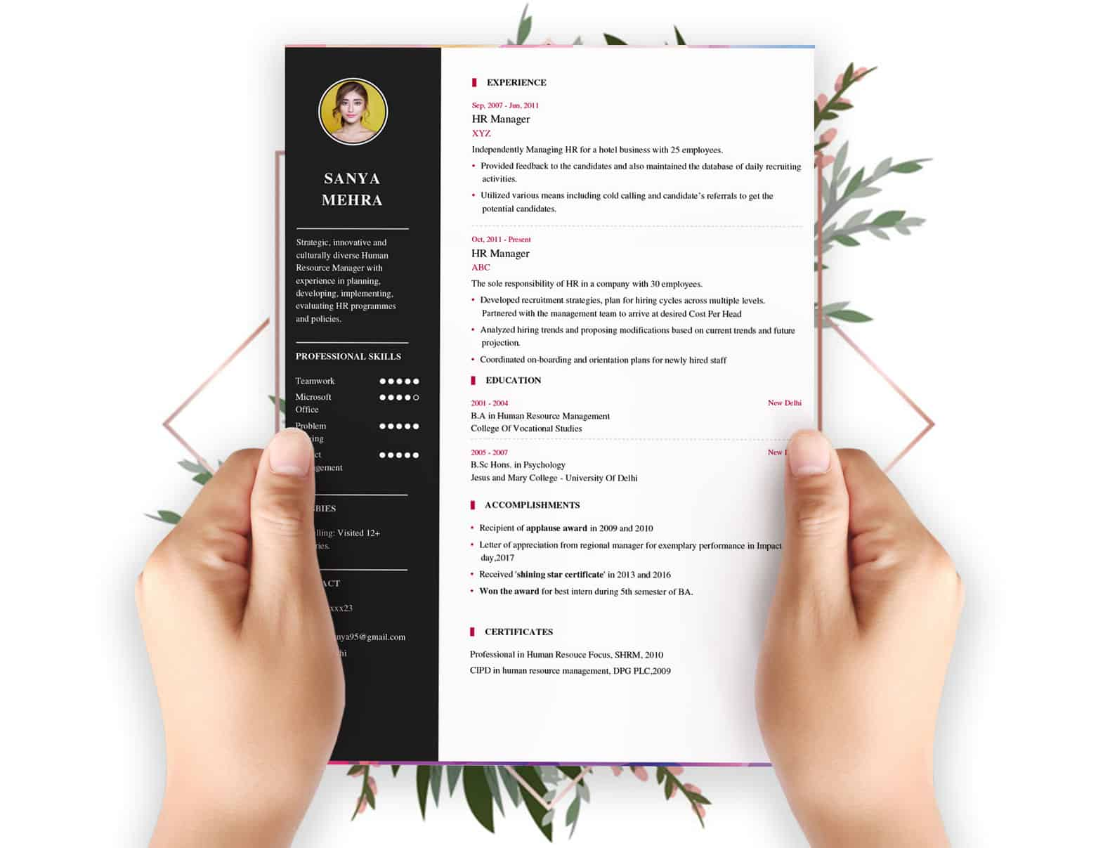 resume builder my format free and job board professional template copy of lecturer sample Resume Professional Resume Format