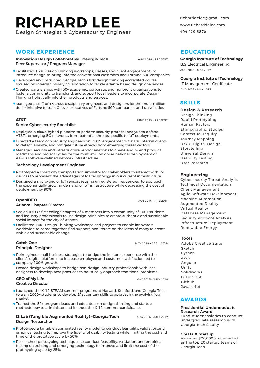 resume by richard issuu augmented reality objective for promotion examples problem Resume Augmented Reality Resume