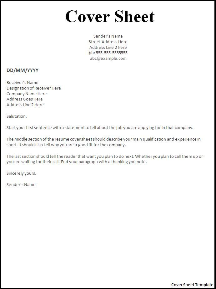 resume cover letter template for sheet example apsu warehouse worker objective oracle Resume Resume Cover Sheet Example