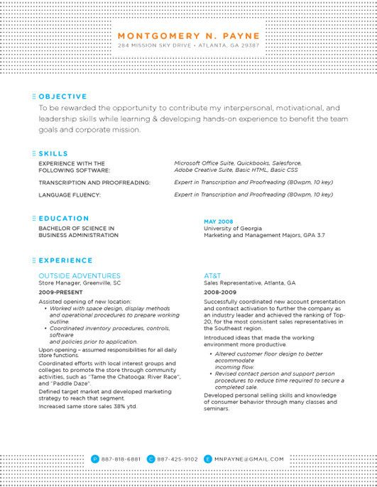 resume design layout inspiration noticeable pattern header footer color subject headers Resume Noticeable Resume Templates