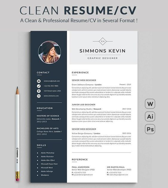 resume design template modern word free etsy microsoft professional scholarships on trade Resume Download Professional Resume Template Microsoft Word