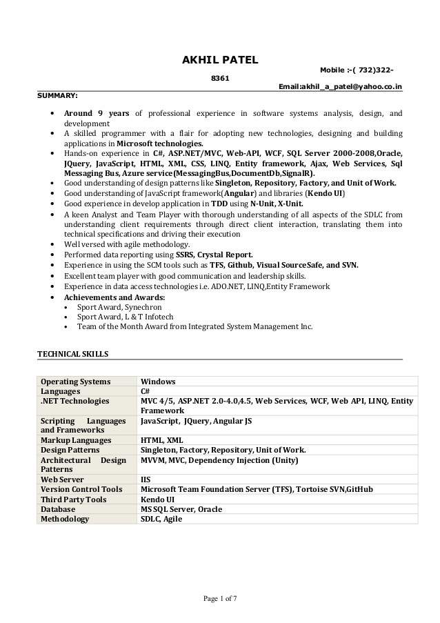 resume entity framework public practice accountant format for masters application indian Resume Entity Framework Resume