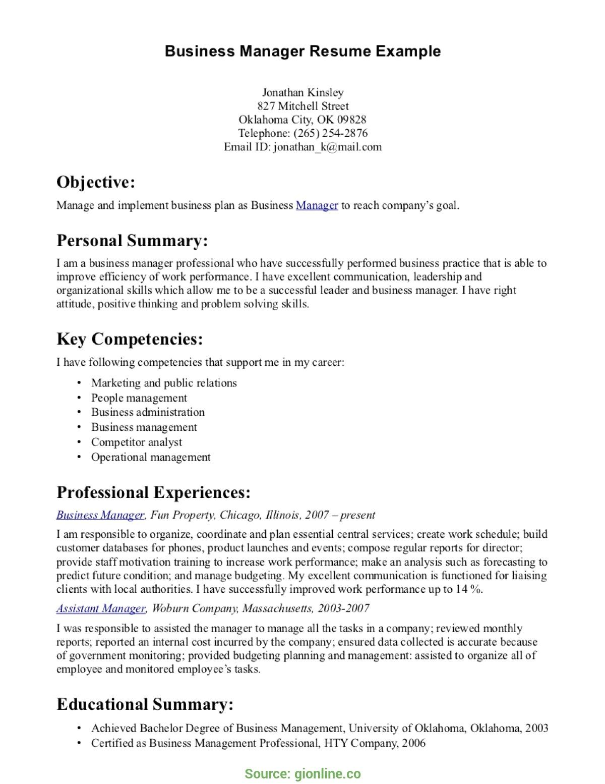 resume examples business management template objective lifeguard customer service Resume Business Management Objective Resume