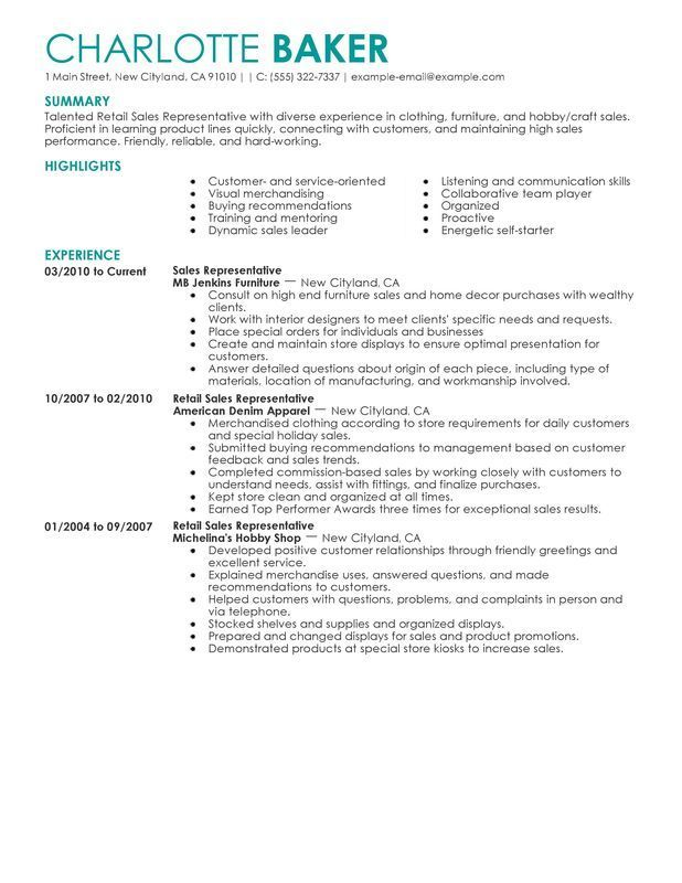 resume examples for retail job samples server clothing description direct care Resume Clothing Retail Job Description For Resume