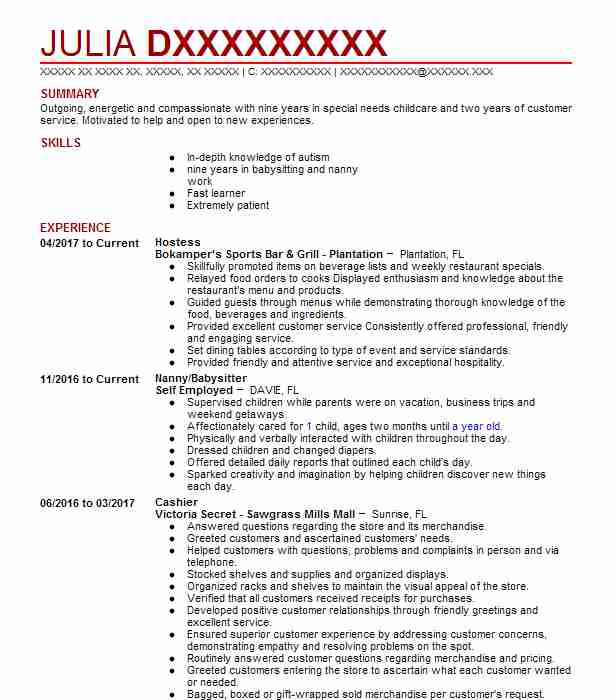 resume examples hostess templates server and profile samples mortgage underwriter skills Resume Server And Hostess Resume