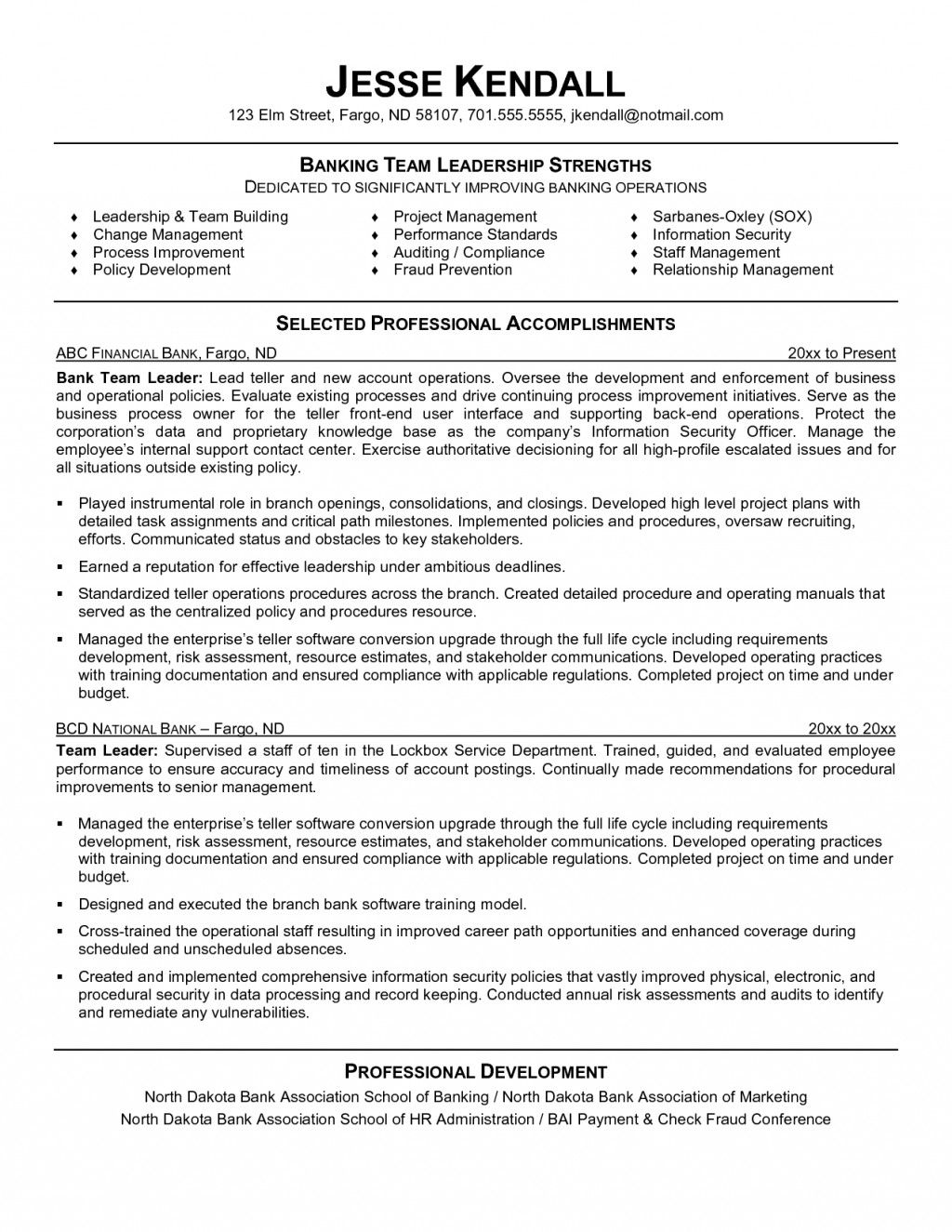 resume examples leadership skills templates bank of on sap fico consultant years Resume Examples Of Leadership Skills On Resume