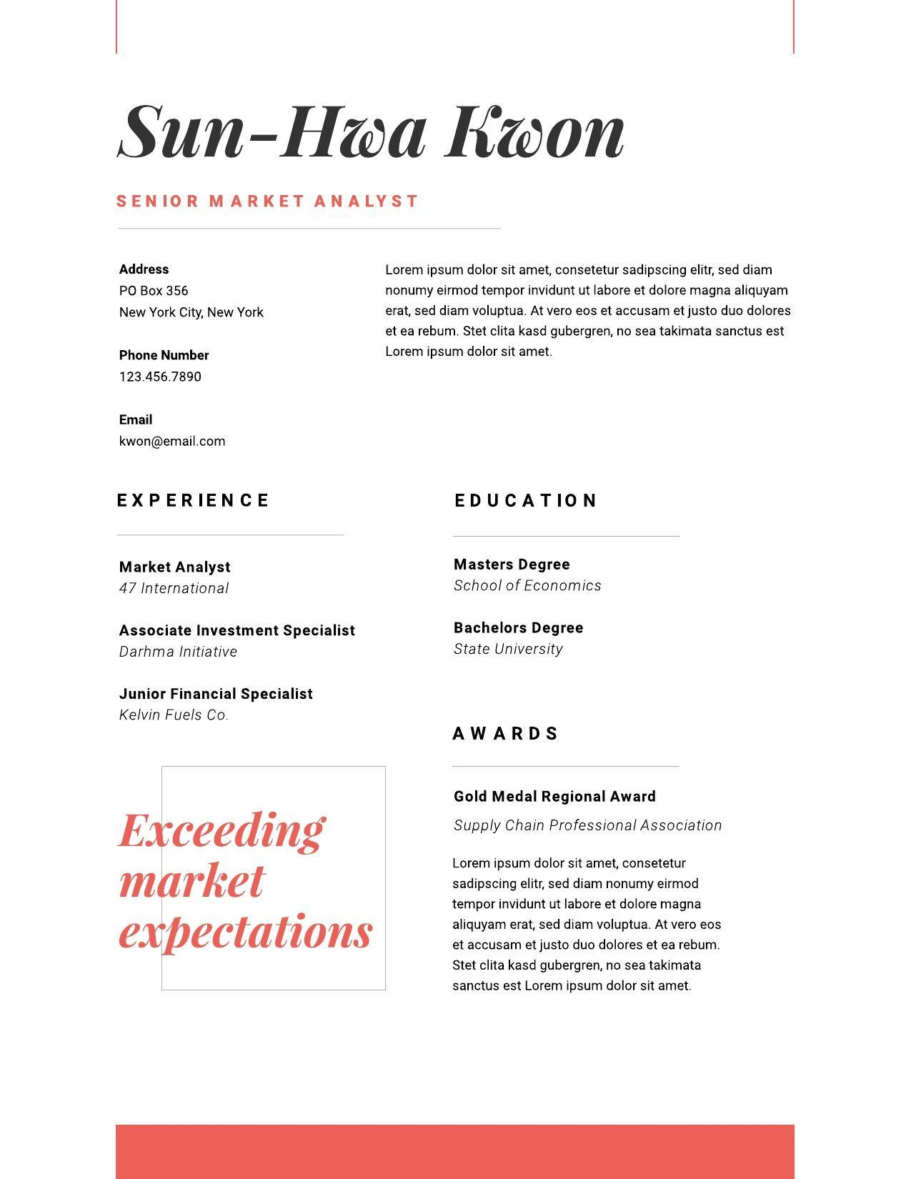 resume examples writing tips for lucidpress basic image01 account manager Resume Basic Resume Examples 2019